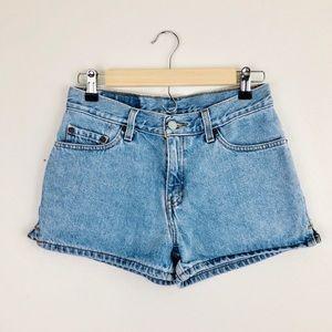 Levi's Classic Light Wash Mid Rise Jean Shorts